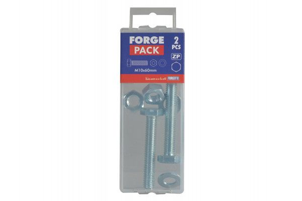 Forgefix High Tensile Set Screw ZP M10 x 60mm Forge Pack 2