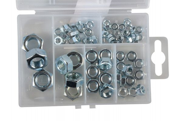 Forgefix Hexagon Nut Kit Forge Pack 70 Piece