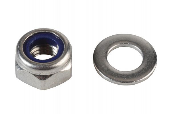 Forgefix Nyloc Nuts & Washers A2 Stainless Steel M10 Forge Pack 8