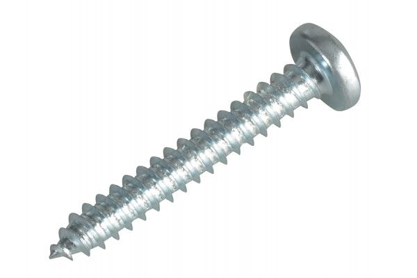 Forgefix Self-Tapping Screw Pozi Pan Head ZP 1.1/4in x 10 Forge Pack 12