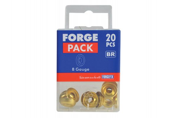 Forgefix Screw Cup Washers Brass No.8 Forge Pack 20