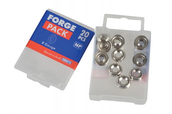 Forgefix Screw Cup Washers Nickle Plated No.8 Forge Pack 20
