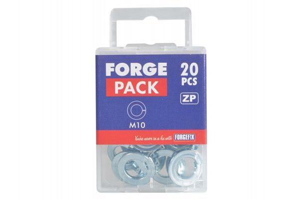 Forgefix Spring Washers DIN127 ZP M10 Forge Pack 20