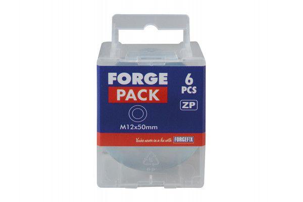 Forgefix Flat Mudguard Washers ZP M12 x 50mm Forge Pack 6