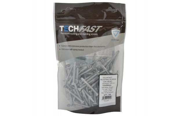Forgefix TechFast Roofing Screw Timber - Steel Light Section 5.5 x 50mm Pack 100