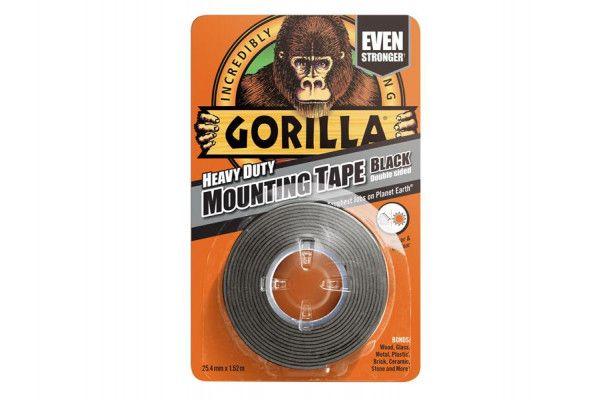 Gorilla Glue Gorilla Heavy-Duty Double Sided Black Mounting Tape 25.4mm x 1.52m