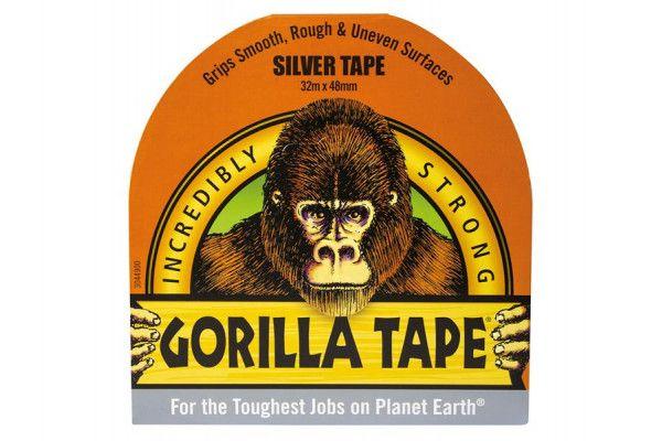 Gorilla Glue Gorilla Tape Silver 48mm x 32m