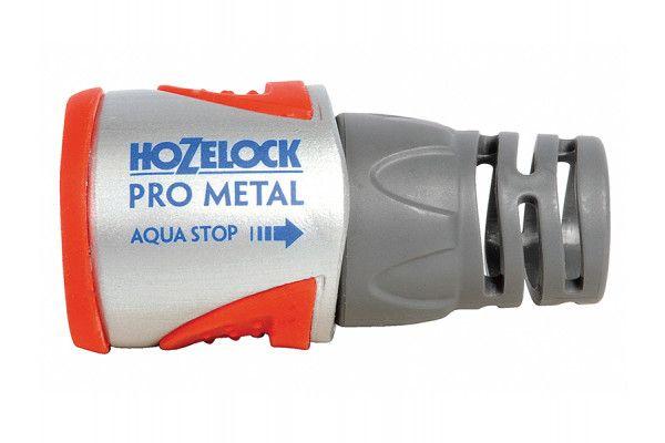 Hozelock 2035 Pro Metal Aqua Stop Hose Connector 12.5 - 15mm (1/2 - 5/8in)