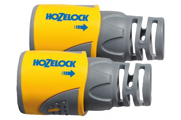 Hozelock 2050 Hose End Connector for 12.5 - 15mm (1/2 - 5/8in) Hose Twin Pack