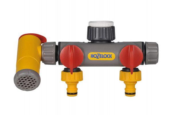 Hozelock Flowmax Three Way Connector 1/2 - 1in BSP