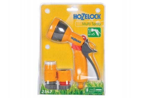 Hozelock 2347 Multi-Pattern Spray Gun Starter Set with Fittings