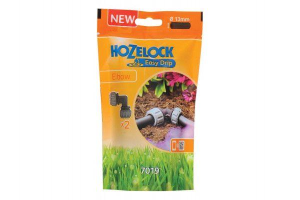 Hozelock 7019 Elbow 13mm (2 Pack)