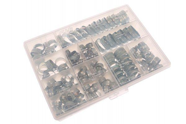 Jubilee® Workshop Pack 143 Assorted Hose Clips (Mild Steel)