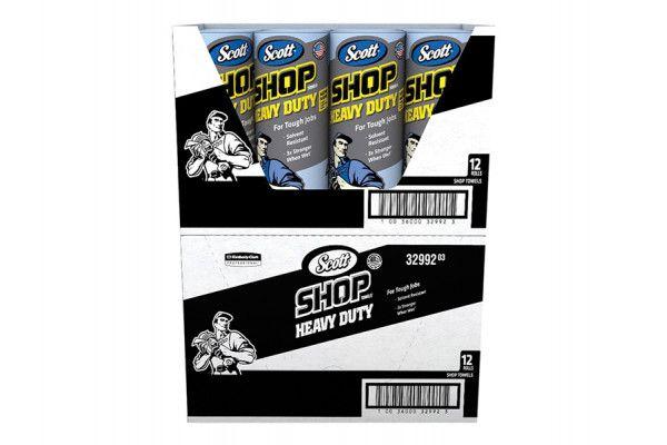 Kimberley Clarke SCOTT® Blue Heavy-Duty Shop Cloth Roll