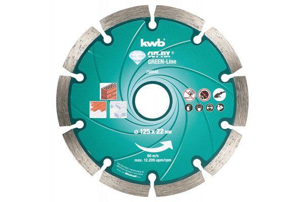 KWB Diamond Cutting Disc 125 x 22mm