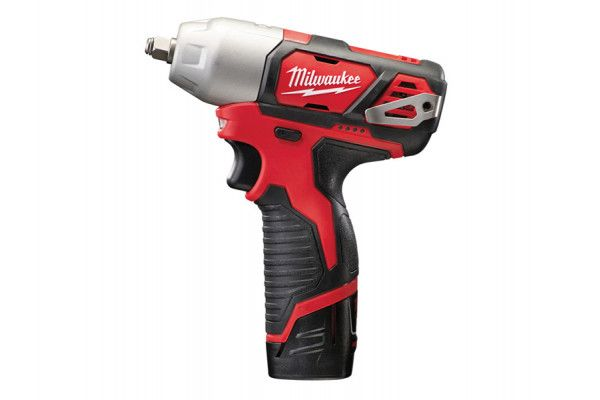 Milwaukee M12 BIW38-202C Compact 3/8in Impact Wrench 12V 2 x 2.0Ah Li-Ion
