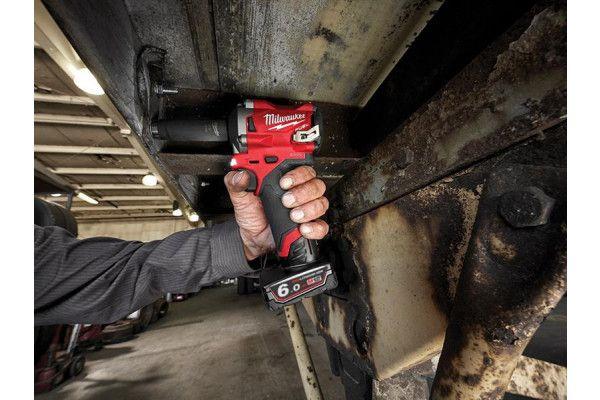Milwaukee M12 FIWF12-622X FUEL™ Impact Wrench Kit 12V 1 x 2.0Ah & 1 x 6.0Ah Li-ion