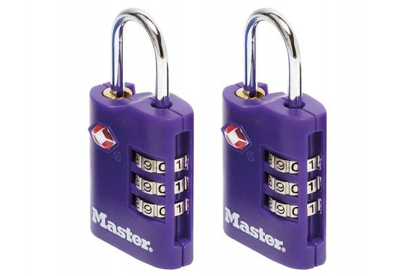 Master Lock TSA Combination Zinc Padlocks 3 Digit 30mm x 2