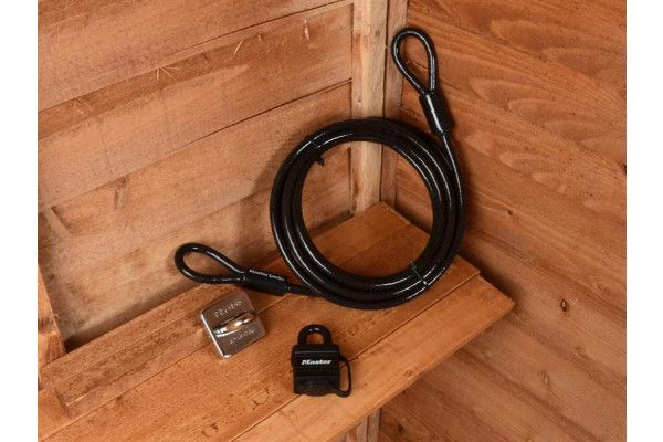 Master Lock Garden Security Kit with Lock, Anchor & Cable 4.5m