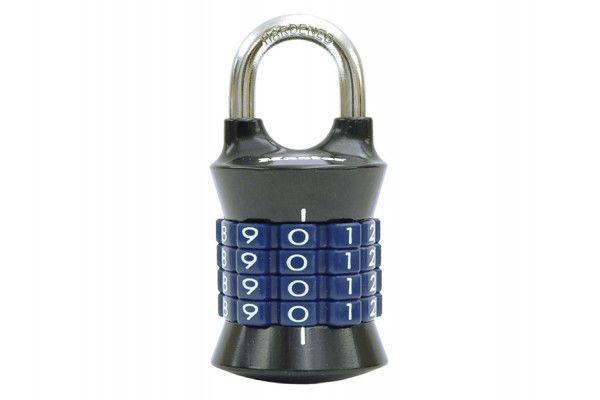 Master Lock Tower 37mm Padlock 4-Digit Grey