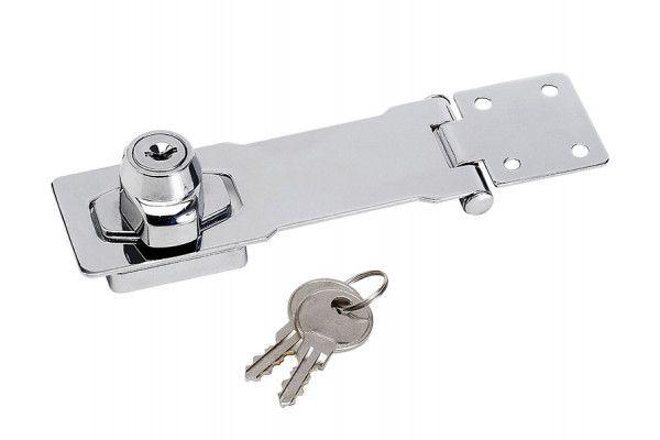 Master Lock Chrome Plated Steel Locking Hasp 117mm