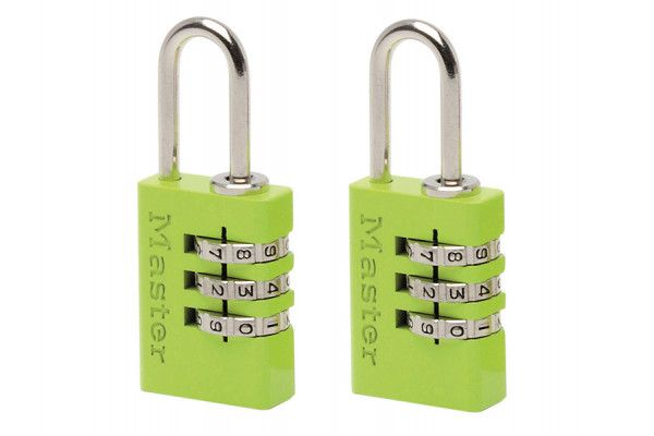 Master Lock Aluminium Combination Padlocks 3 Digit Colour 20mm x 2