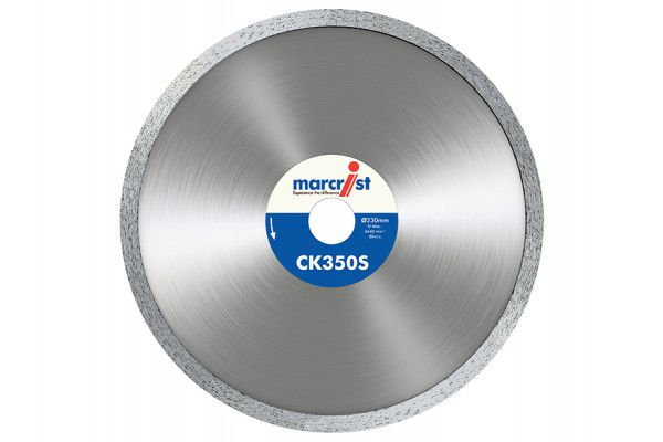 Marcrist CK350 Smooth Rim Diamond Blade Tile Cut 180 x 22.2mm