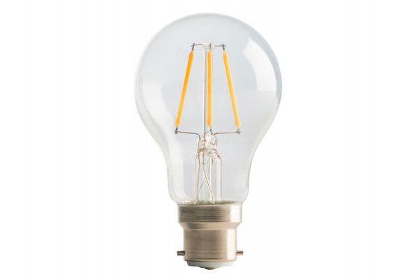 Masterplug LED Classic Clear Filament Bulb B22 (BC) Non-Dimmable 810 Lumen 6 Watt 2700K