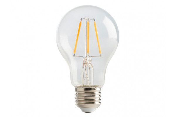 Masterplug LED Classic Clear Filament Bulb E27 (ES) Non-Dimmable 470 Lumen 4 Watt 2700K