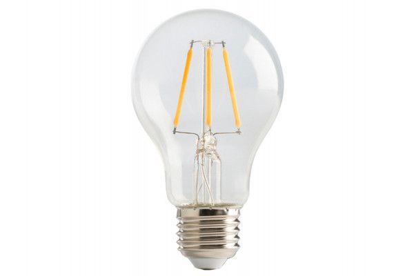 Masterplug LED Classic Clear Filament Bulb E27 (ES) Non-Dimmable 810 Lumen 6 Watt 2700K