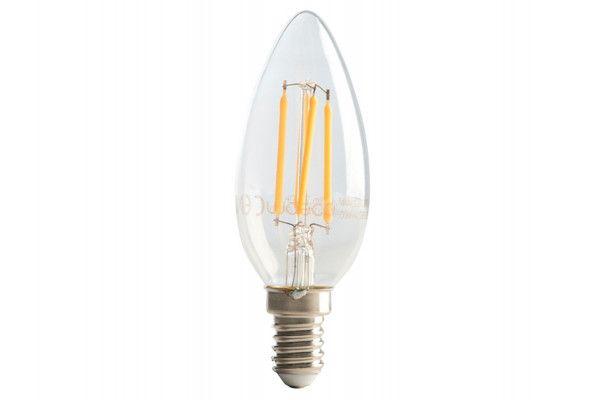 Masterplug LED Candle Clear Filament Bulb E14 (SES) Non-Dimmable 470 Lumen 4 Watt 2700K