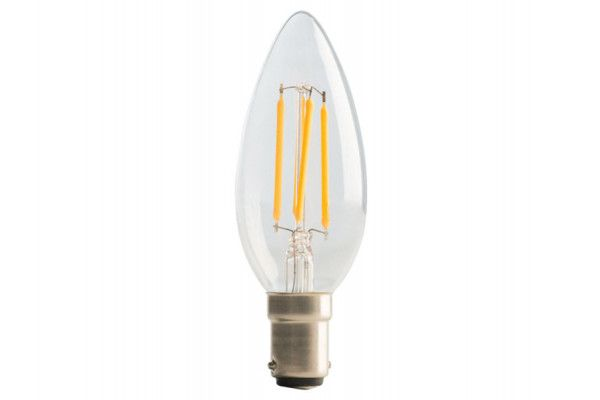 Masterplug, LED Candle Clear Filament Dimmable Bulb