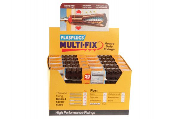 Plasplugs BJP700 Heavy-Duty Fixings (50 x 20 Strips)