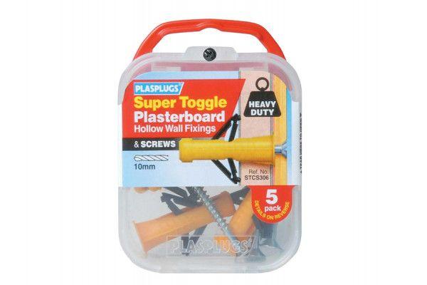 Plasplugs STC S306 Super Toggle Cavity Anchors & Screws (5)