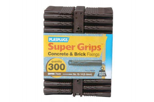 Plasplugs BP 539 Solid Wall Super Grips™ Fixings Brown (300)