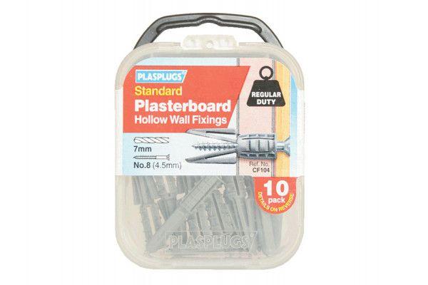 Plasplugs CF 104 Standard Plasterboard Fixings Pack of 10