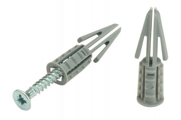 Plasplugs CFS 204 Standard Plasterboard Fixings & Screws Pack of 10