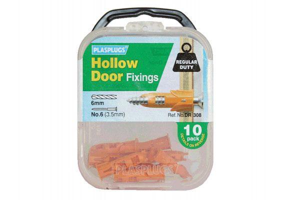 Plasplugs DR 308 Hollow Door Fixings (10)