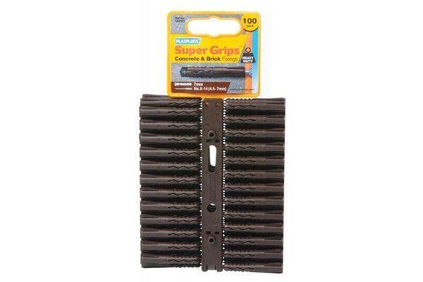 Plasplugs SBP 503 Solid Wall Super Grips™ Fixings Brown (100)