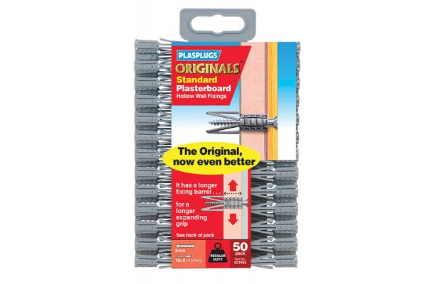 Plasplugs SCF 552 ORIGINALS™ Plasterboard Fixings Pack of 50