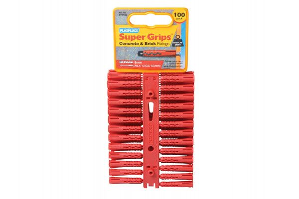 Plasplugs SRP 502 Solid Wall Super Grips™ Fixings Red (100)