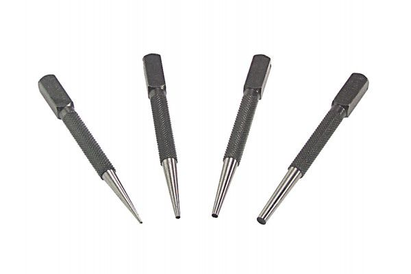 Priory 66SN4 Nail Punch Set 4 Piece