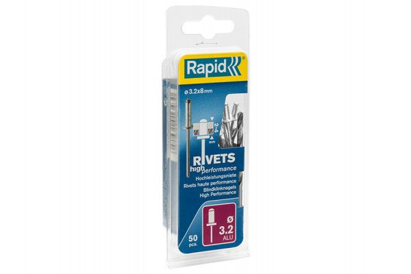 Rapid High Performance Rivets 3.2 x 8mm (Blister of 50)