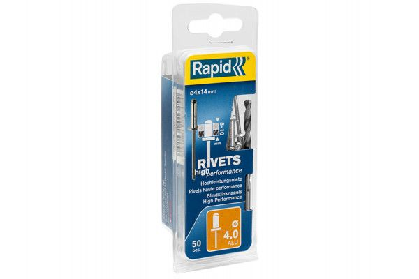 Rapid High Performance Rivets 4 x 14mm (Blister of 50)