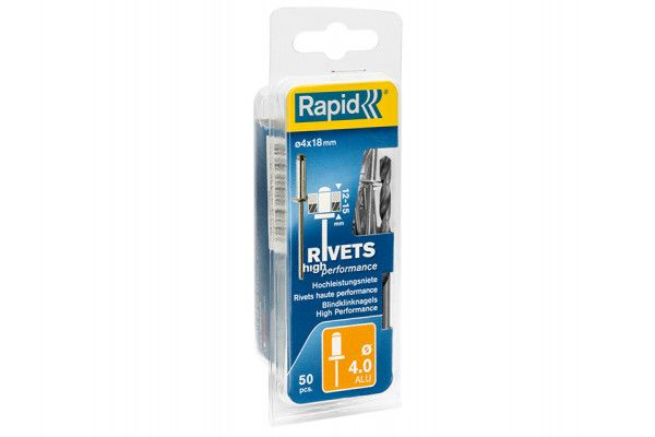 Rapid High Performance Rivets 4 x 18mm (Blister of 50)