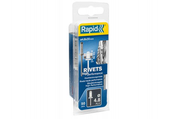 Rapid High Performance Rivets 4.8 x 20mm (Blister of 50)