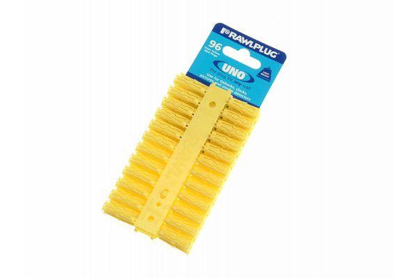 Rawlplug Yellow Uno Plugs 5mm x 24mm Card of 96