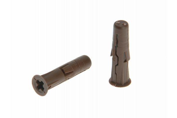 Rawlplug Brown Uno Plugs 7mm x 30mm Card of 48