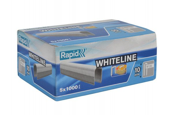 Rapid 28/10 10mm DP x 5m White Staples Box 5 x 1000