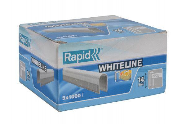 Rapid 36/14 14mm DP x 5m White Staples Box 5 x 1000